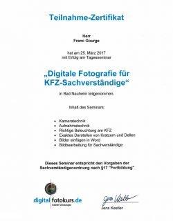 Digitale Fotographie für Kfz-Sachverständige