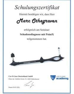 Zertifikat Point X Schulung Marc Othegraven